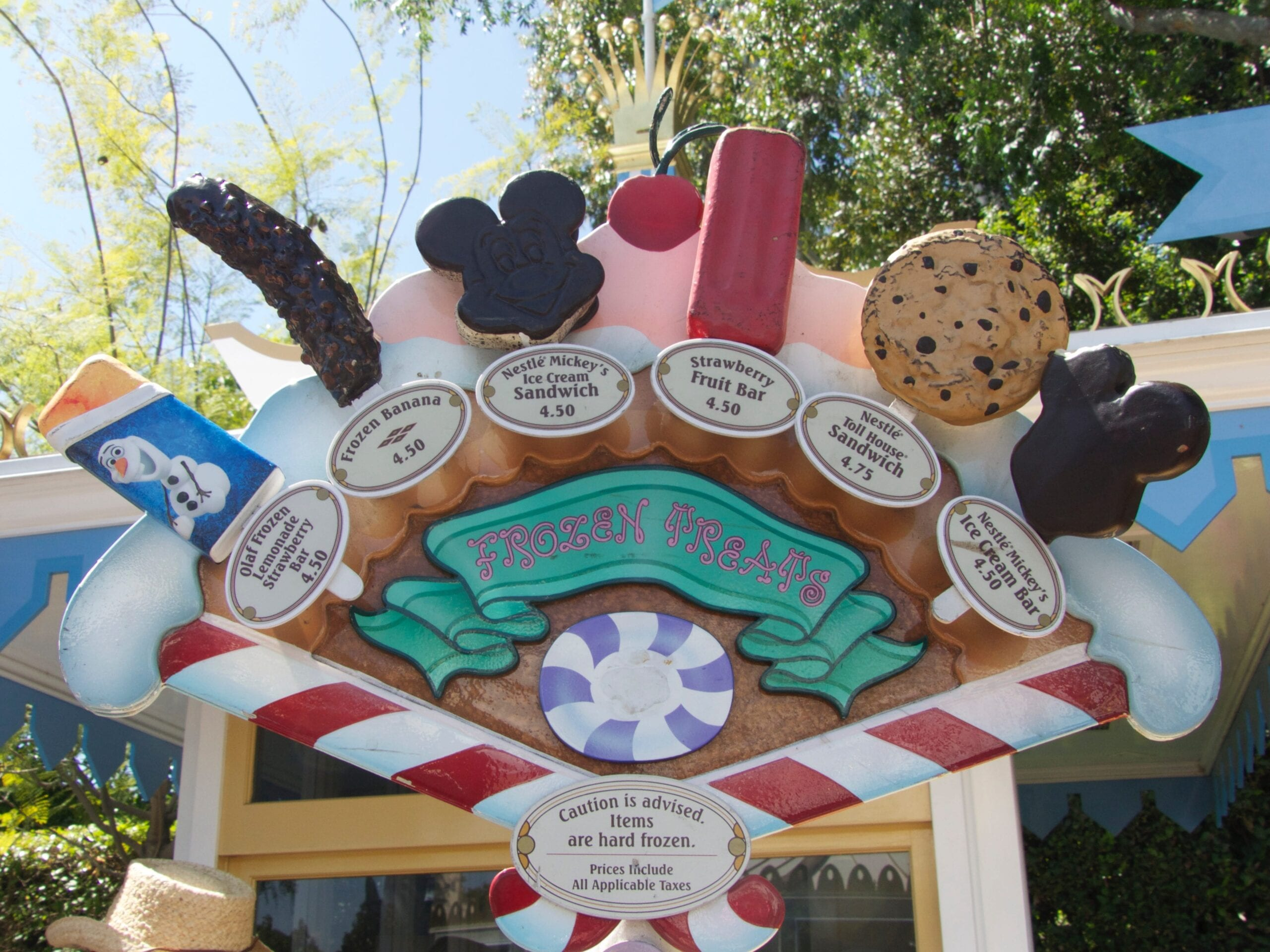 Was kostet ein Eis in Disneyland Kalifornien USA