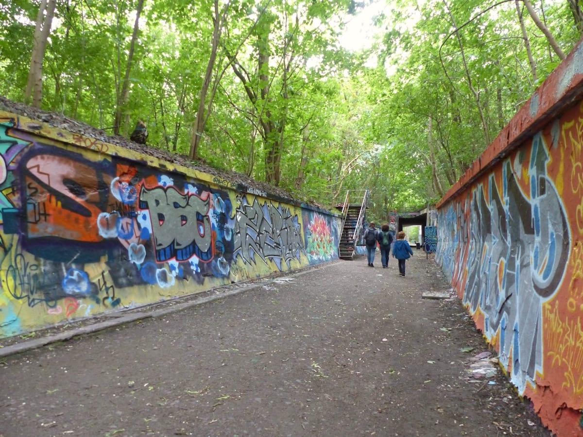 Natur-Park Südgelände Berlin - Graffiti