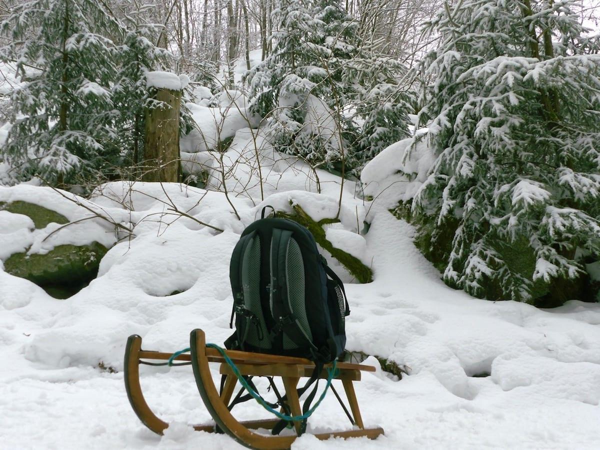 Winter mit Kindern im Fichtelgebirge - Outdoor Stilleben