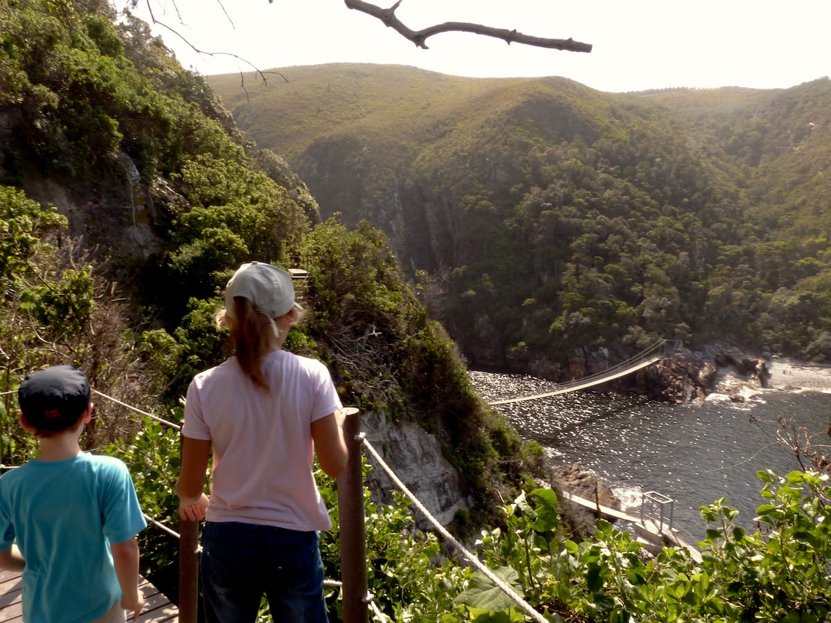 Garden Route mit Kindern - Wandern am Storms River Mouth