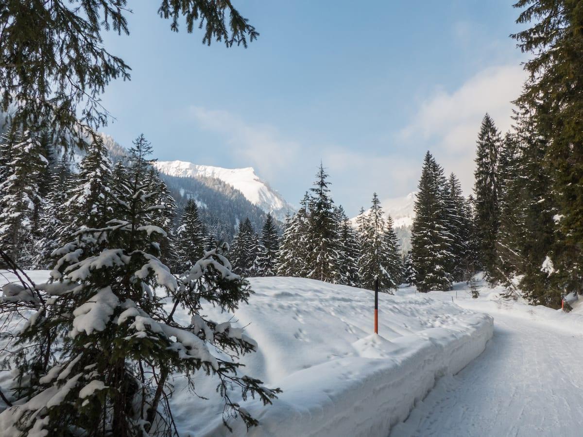 Langlauf und Wandern am Achensee im Winter - Unterautal bei Achenkirch