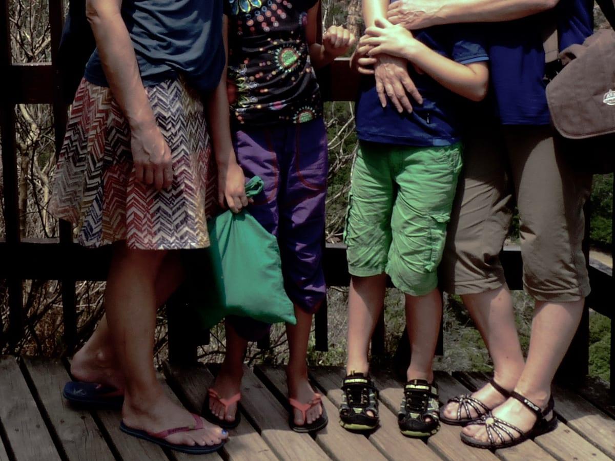 Reisen mit Kindern und anderen - Beine