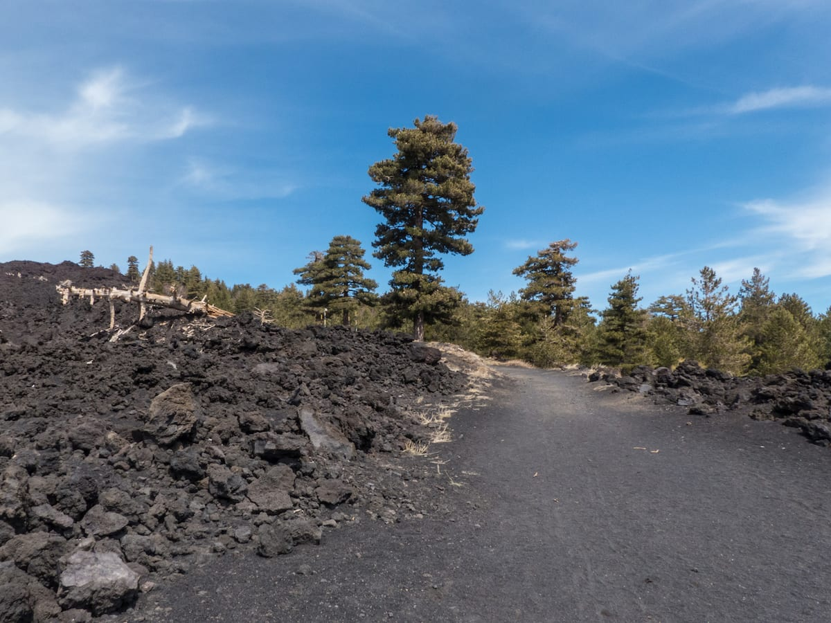 Wandern auf Sizilien am Piano Provenzana (Etna Nord)