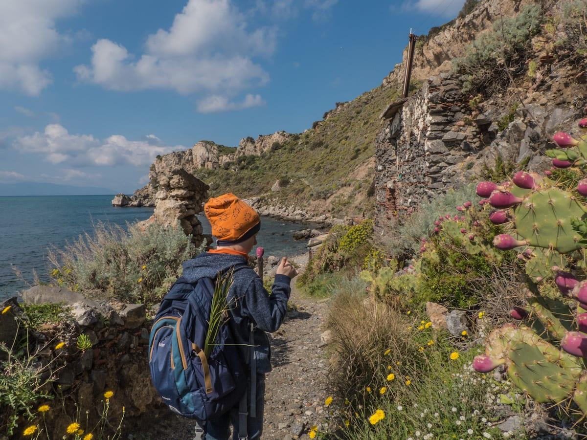 Wandern auf Sizilien mit Kindern - Capo Milazzo