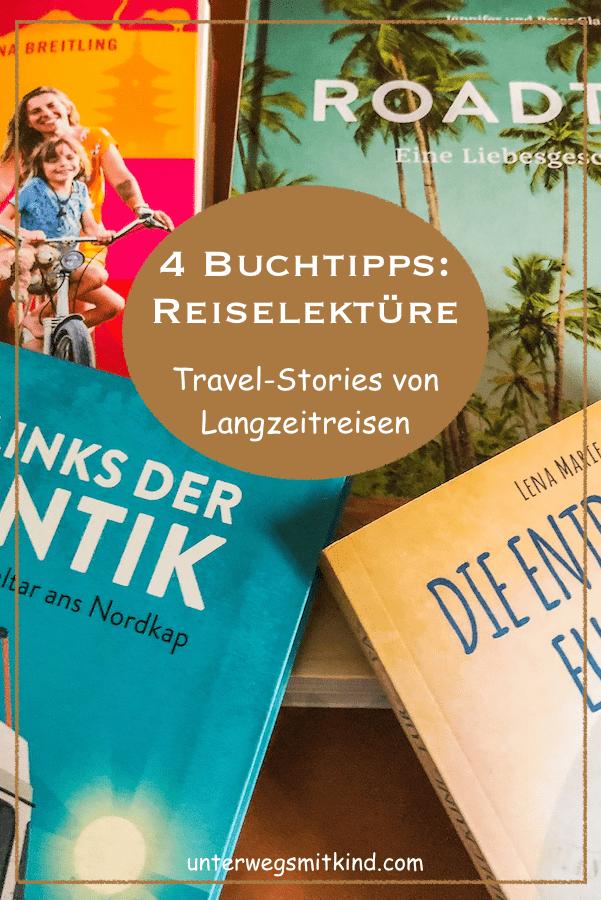 Buchempfehlungen: Reisereportagen und -tipps (Pin)
