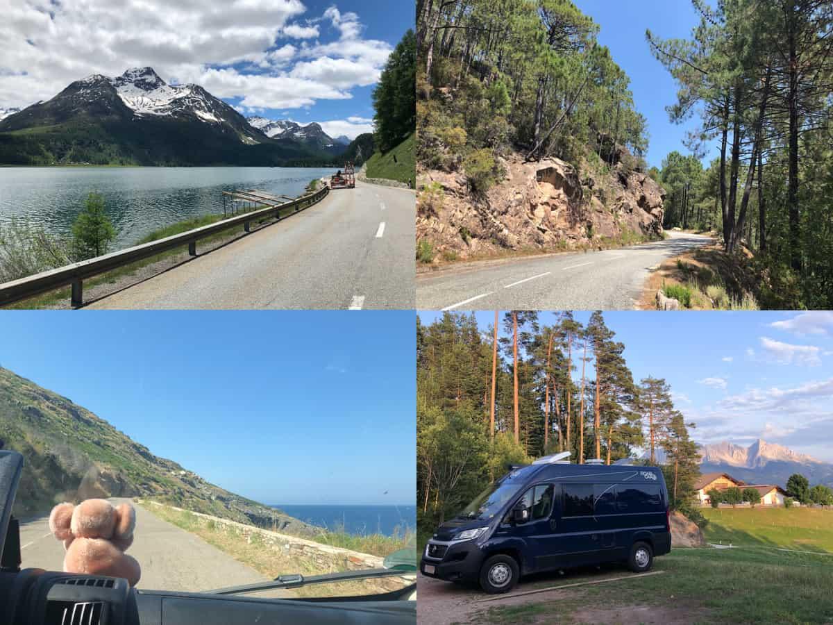 Roadtrip im Campern durch die Schweiz, Korsika und Italien
