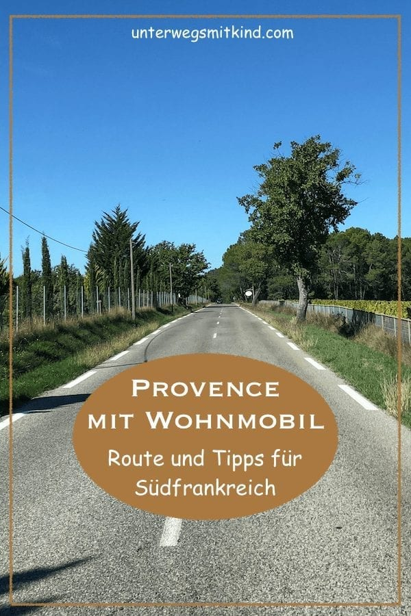 Provence mit Wohnmobil-Route-Pin