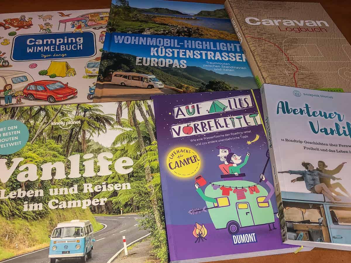 5 +1 Camping und Vanlife Bücher