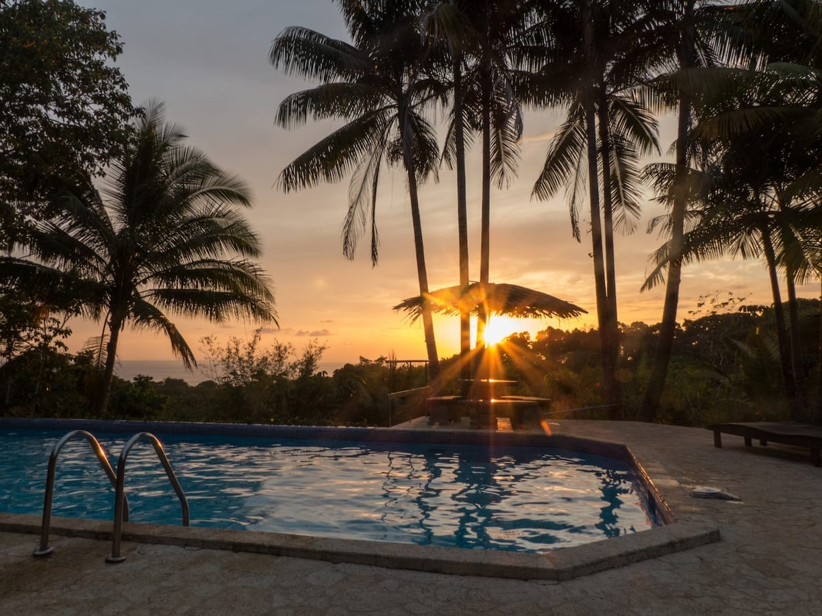 Finca Bavaria Costa Rica Sonnenuntergang