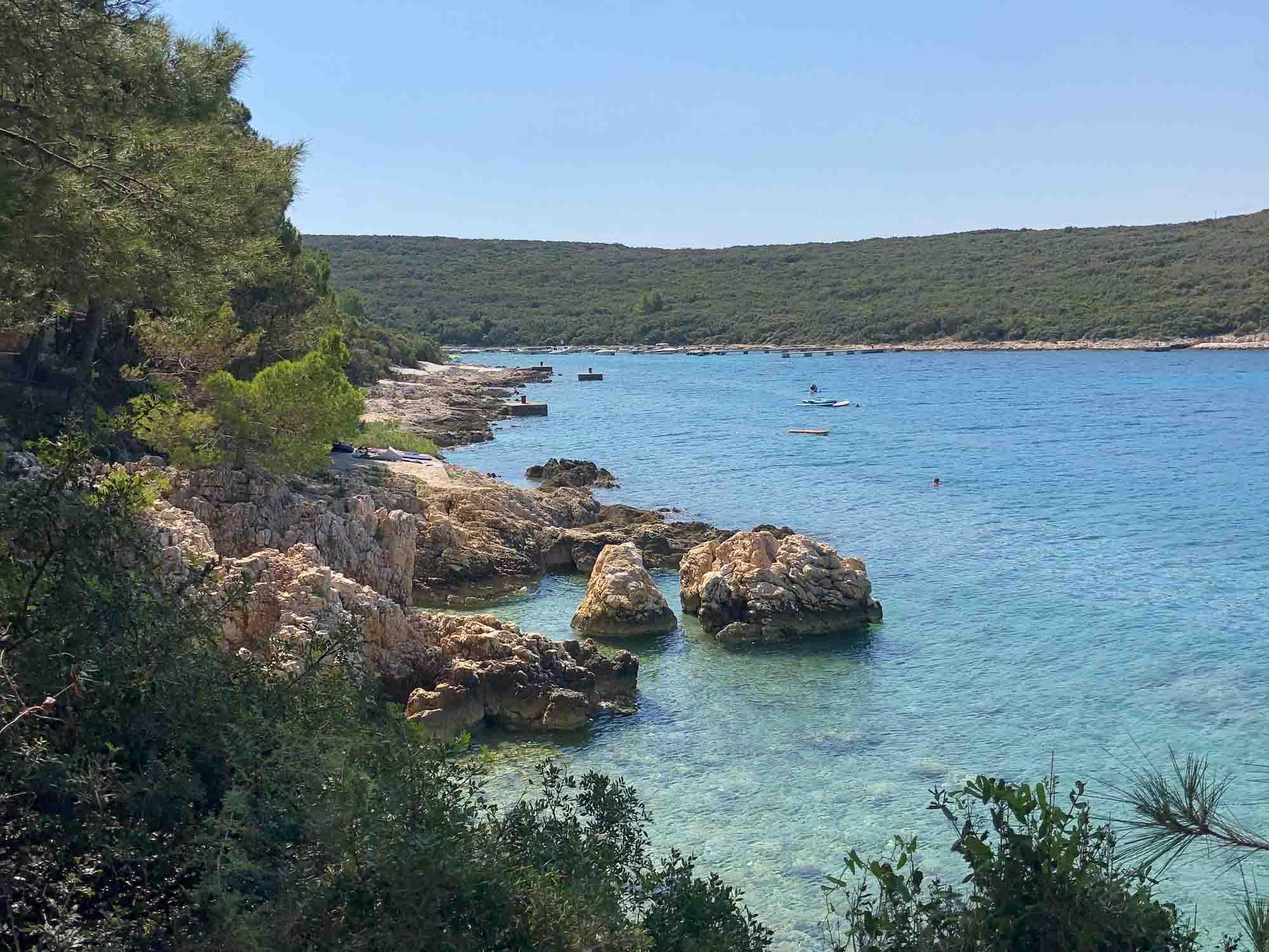 Camping auf Cres - Küste am Camping Slatina